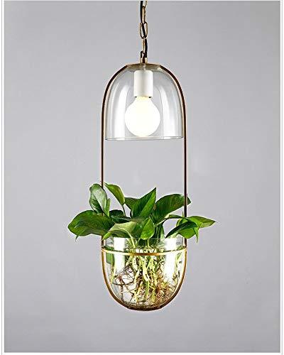 xiadsk Hanging lamp Modern Glass Creative Suspension Flower Pot Pendant Light for Kitchen Island Dining Room Bedroom