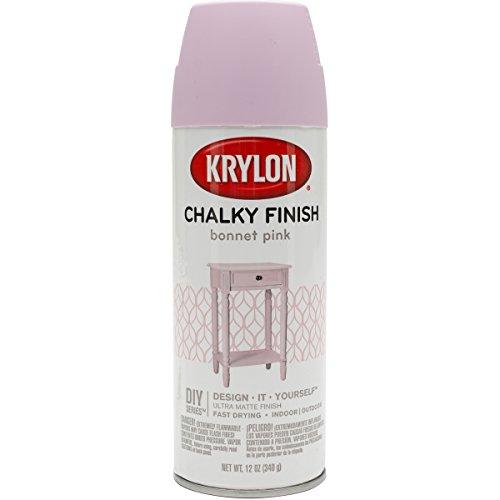 Krylon K04116000, Bonnet Pink, K04116007 Chalky Finish Spray Paint, 12 Ounce, (Pack of 1)