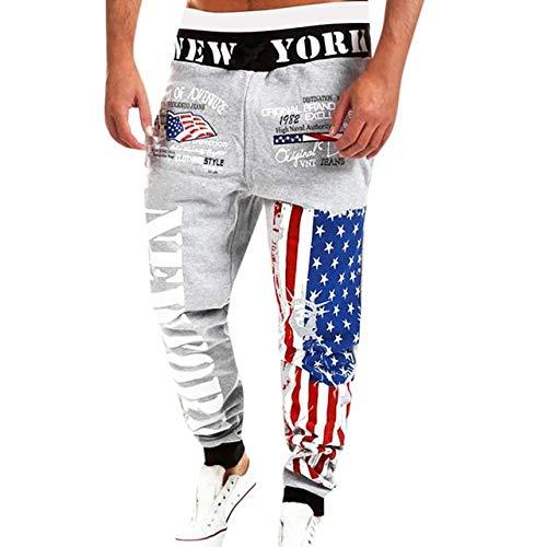 N/ A Herrenhose Usa Flag Print Jogginghose für den Tag Männer Causal Long Pants Streetwear