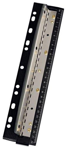 Wedo 679401 Vierfachlocher (aus Metall zum Abheften inkl. 28 cm Skala und Auffangbehälter)