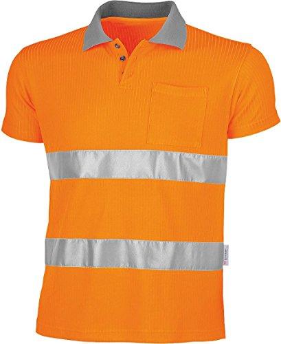 Qualitex Warnschutz-Poloshirt-Shirt,75% PES/25% Viskose EN 471 Größe M