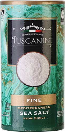 Tuscanini Premium Italian Fine Sea Salt, 16oz Tube, Mediterenian Sea Salt From Sicily Italy