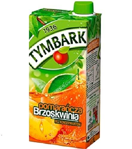 GroßhandelPL Tymbark Orange - Pfirsich Getränke – Fruchtsäfte 12er Pack (12x1L)