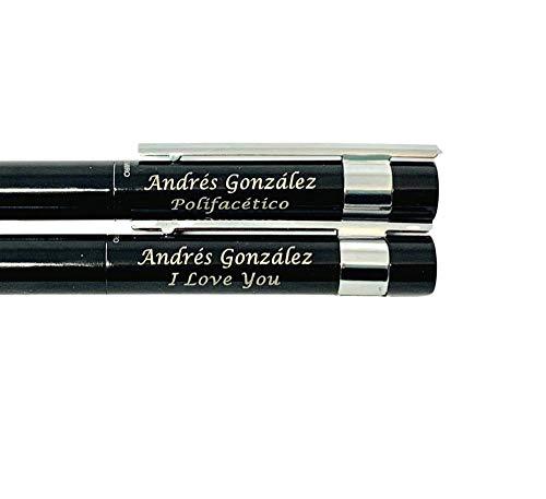 Set Antonio Miró bolígrafo y roller personalizado con texto