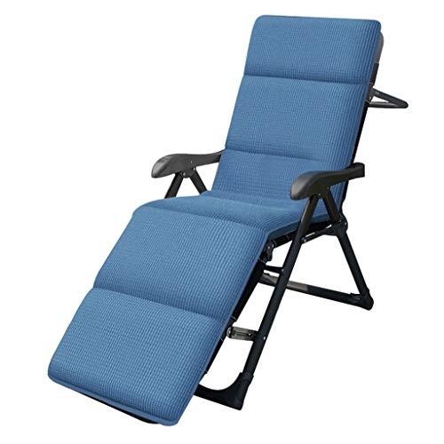 Chaise Longue Extérieure Chaise De Repos Pliante pour Le Déjeuner Chaise De Maison Lit De Sieste De Bureau Inclinable Peut Supporter 200 Kg Convient À Toutes Les Saisons