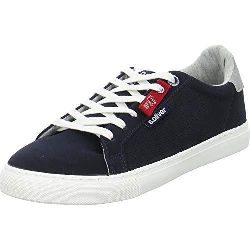 s.Oliver Herren Skater Sneaker 13630-22,Männer Sportschuh,Low-Top,Navy,44 EU
