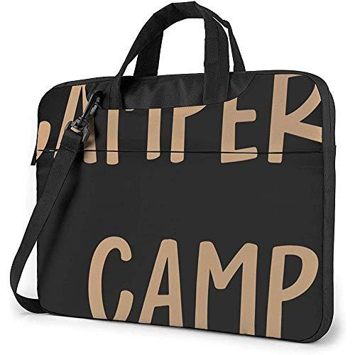 Laptop Messenger Bag Campers Gonna Camp Notebook Sleeve Shoulder Bag Laptop Carrying Case Handbag With Strap