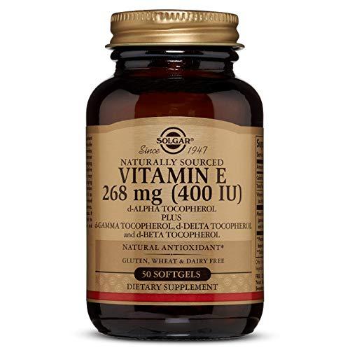 Solgar Vitamin E 400 IU Mixed (D-Alpha Tocopherol and Mixed Tocopherols) Softgels, 50 Count