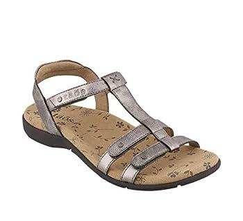 Taos Footwear Women s Trophy 2 Pewter Sandal 9 M US
