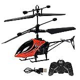 ALYHYB Helicóptero RC Helicópteros de Control Remoto Recargables USB con luz, Mini 2 Canales 2.4GHz Avión controlado por Radio Juguete Volador Interior, Juguete para Drones