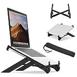 Support de Ordinateur Portable Ventilé, Ergonomique Stand de Bureau Pliable pour MacBook Air Pro/PC/iPad/Notebook/Tablette...