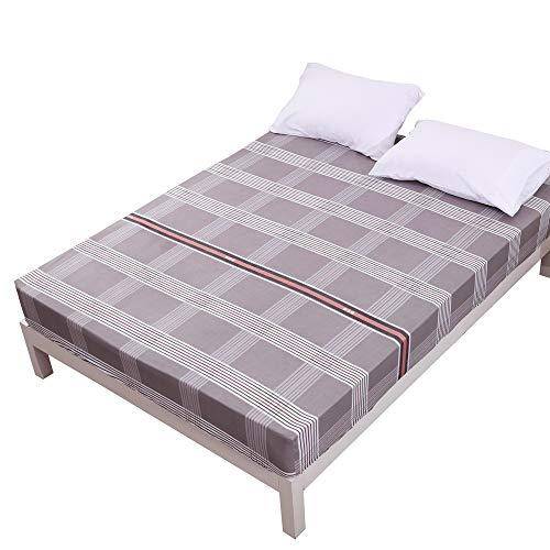 Bettlaken,Bedrucktes Bettlaken aus Polyester, feuchtigkeitsbeständige Reinigung Gebürstete Simmons-Schutzhülle Betttasche -200 * 200 * 25 cm