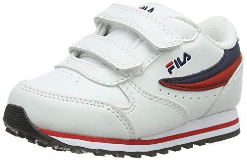 FILA Jungen Unisex Kinder Orbit infants Sneaker, White/Dress Blue, 25 EU