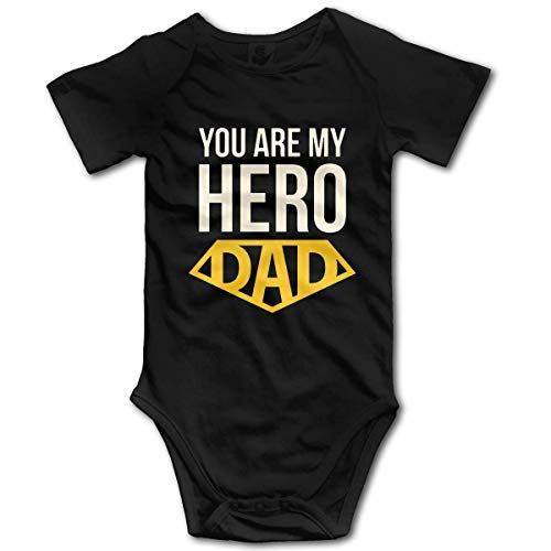 "Promini Mono de algodón de manga corta para bebé, con texto en inglés ""You are My Hero Dad"", de 3 a 6 meses, ZI5846"