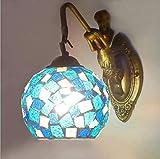 Apliques en forma de vela lámpara de pared industrial lámpara de cristal del mosaico de la pared de la lámpara LED E27 pared retro iluminación de interior de la vendimia se ilumina altillo pasillo res