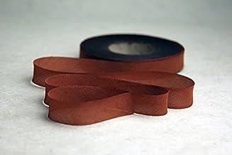 "1"" (24mm) Hand Dyed Silk Ribbon bias Cut 3 Yard Cutting - Color 527 Rust Brown"