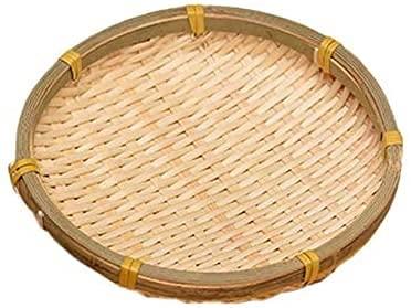 Storage Basket LHY- Paniers ronds en bambou naturel tissé à la main pour fruits et légumes Panier de rangement (couleur : fait à la main)