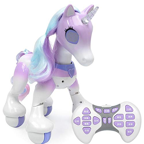 kingpo New Robot Touch Induction Electronic Pet Educational Toys Light Music With USB Smart Touch Remote Control Unicorn