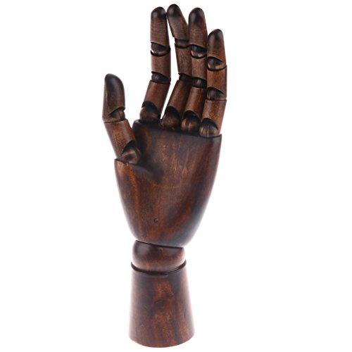 HomeDecTime Holz Schaufenster Dekohand Präsentationshand, Schmuckhand - Ringe, Armband, Handschuhe Display Halter Modell Hand - Kupferfarbe