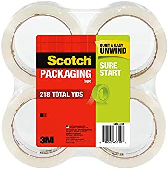 4-Pack Scotch Sure Start Shipping Packaging Tape