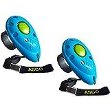 ASCO 2 clickers, clicker de Dedo para Entrenamiento, clicker Profesional para Perros Gatos Caballos, adiestramiento de Perros con clicker, Azul AC04F2X