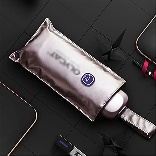 KXHWSH Kompakter Regenschirm, Sonnenschutzschirm Anti-Ultraviolett-Kühlender Fünffachschirm UPF50+, Windabweisend, Kleiner Faltbarer Rucksackschirm Für Regen