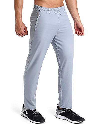 Azani Utility Mens Light Weight, Moisture Wicking, Fitted Track Pants. Comfortable, Athletic & Slim Fit Tapered Sweat Pants with Zippered Pockets. Ideal for Running, Training, Gym & Outdoors