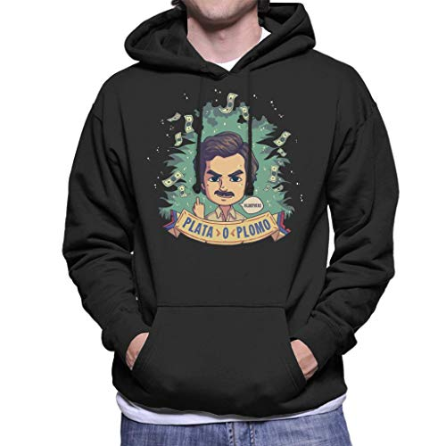 Cloud City 7 Plata O Plomo Pablo Escobar Narcos Sweater met capuchon voor heren