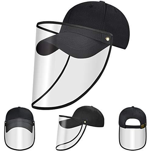 Visier Baseballkappe mit Durchsichtigem Folie Safety Baseball Cap mit Durchsichtigem Visier Antibeschlaghut Anti-Staubhut Winddicht Baseballmütze Sonnenhut