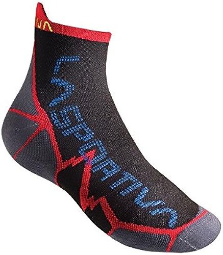 La Sportiva Long Distance Socks, Couleur Rouge, Noir, Taille l