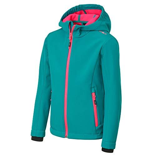 CMP Mädchen Melange Softshell Jacket with ClimaProtect Technology Jacke, Lake, 164