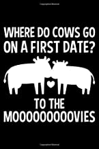 Where Do Cows Go On A First Date? To The Mooooovies: Lined A5 Notebook for Cows