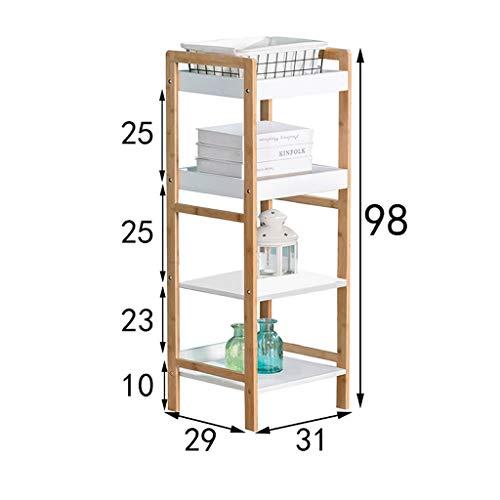 CKH Eenvoudige Boekenplank Vierkante Plank Creatieve Vier-laags Trapeziumvormige Woonkamer Balkon Plank Vloer Multi-Slaapkamer Slaapkamer Opslagrek