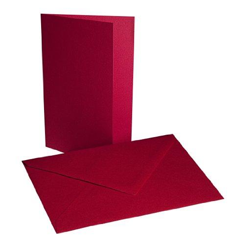Faltkarten mit Umschlägen B6 – Rot