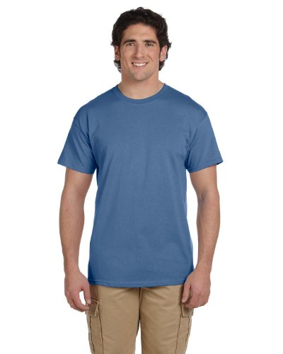 Hanes 5.2 oz., 50/50 ComfortBlend EcoSmart T-Shirt (5170) Pack of 3- HEATHER BLUE,L