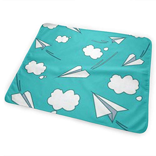 licht Saber DUN Cartoon Papier Vliegtuig Wolken Draagbare Verwisselbare Pad, Opvouwbare Pad met wandelwagen Band & Pocket voor Luiers & doekjes
