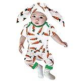 Obestseller Ostern Baby Kleidung Karotte Strampler + Hose + Bunny Ohren Mütze 3D Cartoon Hase Kostüm Für Neugeborenes Jungen Mädchen