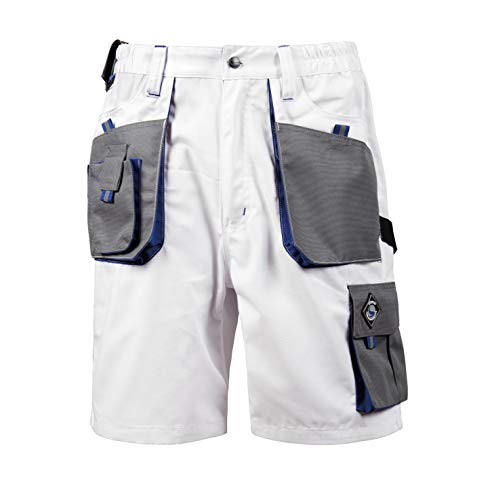 Emerton® - Herren Shorts/kurzen Arbeitshosen - für den Sommer - Weiß EU54