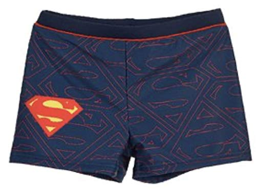 Superman Badeboxer (Marineblau, 128)