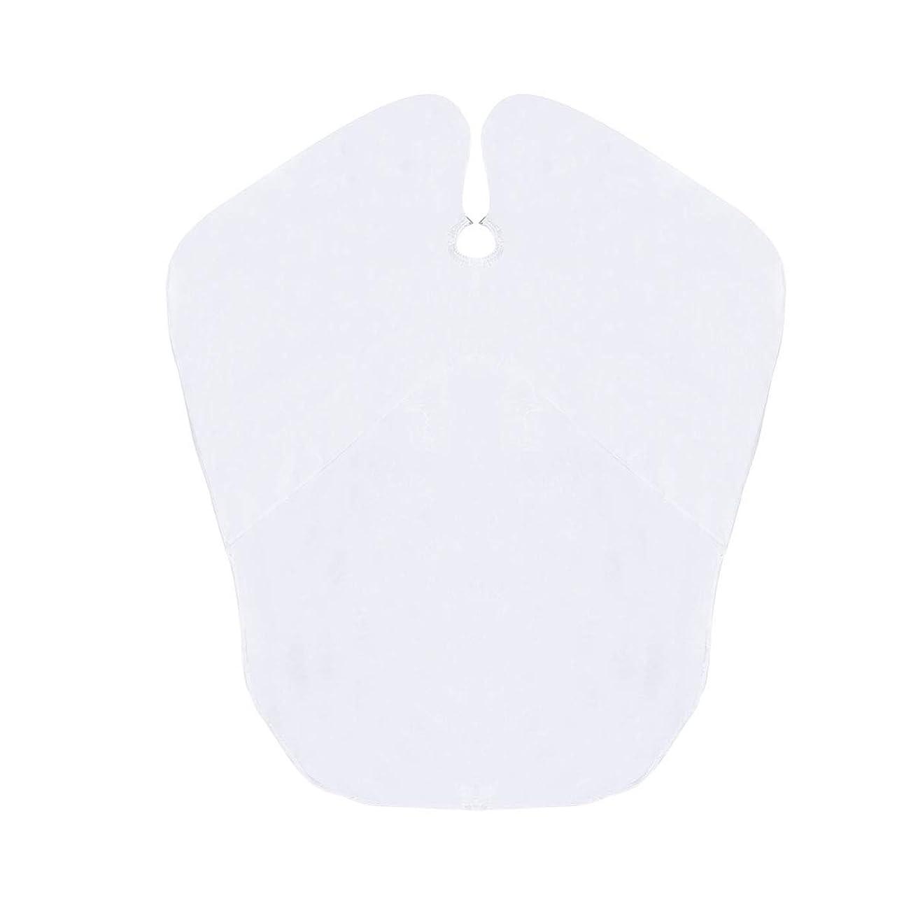 繁殖センチメートルできたHealifty ヘアカットケープ防水布子供髪カッティングキャッチャーエプロン(ホワイト)