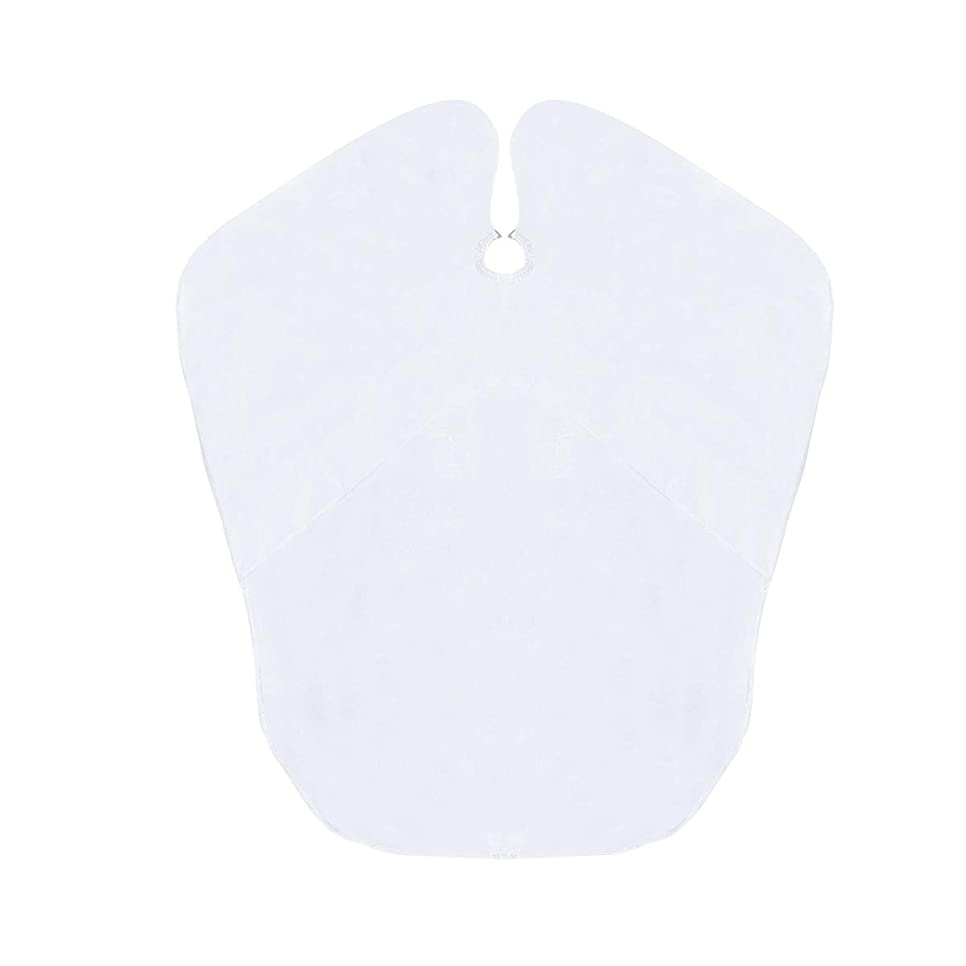 浴室角度順応性のあるSUPVOX キッズ防水ヘアカットケープベイベー布子供キッチンキャッチャーエプロンケープ(ホワイト)