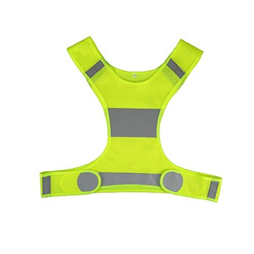 Haodan electronics Sicherheitswesten Outdoor Laufen Warnweste einen.Kreislauf.durchmachenweste Leichtbau Sicherheit Anglerjacke Sportausrüstung for Frauen Männer Jogging Wandern Sicherheitswesten