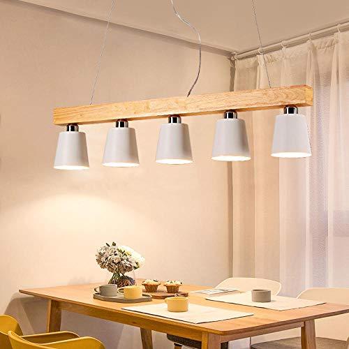 Creatieve eettafel licht drie of vijf koppen E27 studie bar balkon kroonluchter hout restaurant kroonluchter