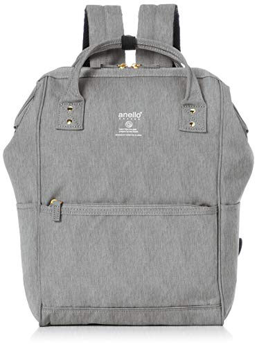 Anello Grande GU-B3013 Sports Series Lightweight Water Repellent Heather Poly Base Backpack Regular (A4 Size) 5 Pockets (Light Gray)
