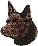 VirVenture 2' 2 1/2' Chocolate Brown Australian Kelpie Portrait Dog Breed Embroidery Patch Great for Hats, Backpacks, and Jackets.