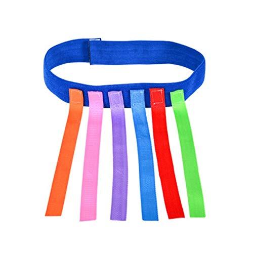 Nologo Haoyushangmao Kindergarten Kinder Outdoor Fun-Spiel-Spielzeug Gürtel Kinder Fangen Schwanz Trainingsgeräte Teamwork Ausstattung Kinder Spielzeug (Farbe : Azul)
