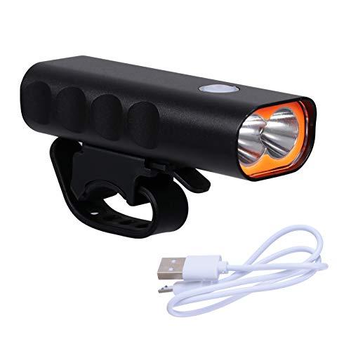 CLISPEED Faro de Bicicleta USB Recargable Luz de Bicicleta Faro de Bicicleta Led Luz Delantera de Bicicleta Luz de Seguridad para Bicicleta MTB 2000Mah