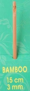 Pony Crochet Aiguilles à tricoter en bambou 15 cm - 3 mm