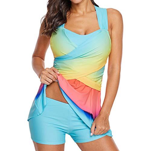 Overdose Regenbogen Damen Übergröße Bikinis Tankini Swim Kleid Badeanzug Beachwear gepolsterte Bademode Frauen Plus Size Beachwear Badeanzüge Bikini Set