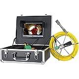 30M Endoscopio Industrial Cámara 9 pulgadas pantalla LCD Cámaras de Inspección 22mm Boroscopio Cámara de Inspección de Alcantarillado IP68 Sistema de Cámara 1000 TVL con luces LED de 6W